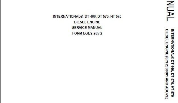 International Dt 530 manual